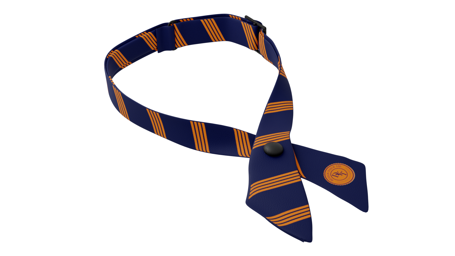 Orange Stripe Cross Ties